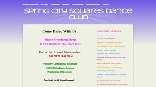 "Web site for ""Spring City Squares"""