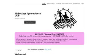 "Web site for ""Major Keys"""