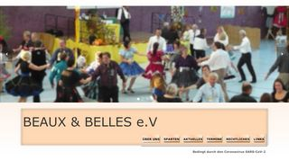 "Web site for ""Beaux and Belles SDC e.V."""