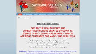 "Web site for ""Swinging Squares"""
