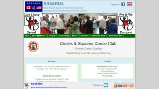 "Web site for ""Circles and Squares Dance Club"""