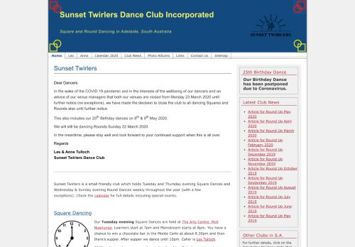 "Web site for ""Sunset Twirlers"""