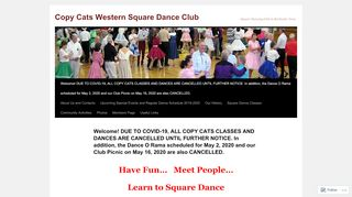 "Web site for ""Copy Cats Square Dance Club"""