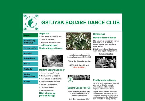 "Web site for ""Østjysk Square Dance Club"""