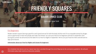 "Web site for ""Friendly Squares Dance Club"""