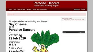 "Web site for ""PA radise Dancers"""