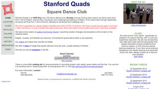 "Web site for ""Stanford Quads"""
