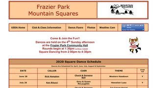 "Web site for ""Mountain Squares"""