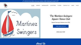 "Web site for ""Martinez Swingers"""