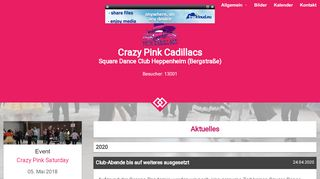 "Web site for ""Crazy Pink Cadillacs"""