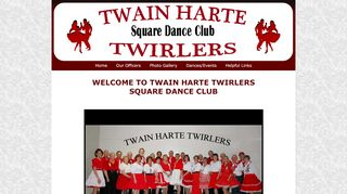 "Web site for ""Twain Harte Twirlers"""