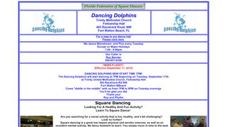"Web site for ""Dancing Dolphins"""