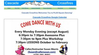 "Web site for ""Cascade Crossfires"""