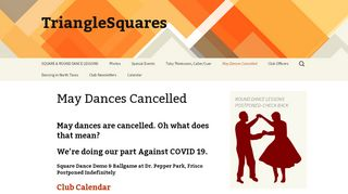 "Web site for ""Triangle Squares Dance Club"""