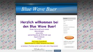 "Web site for ""Blue Wave Buer"""