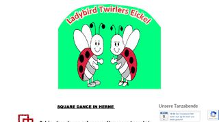 "Web site for ""Ladybird Twirlers Eickel e.V."""