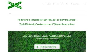 "Web site for ""Cary Cross Trailers Square and Round Dance Club"""