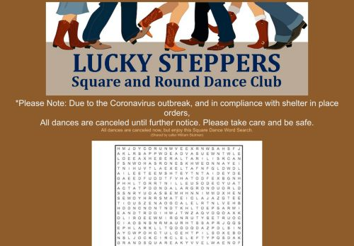 "Web site for ""Lucky Steppers Square Dance Club"""