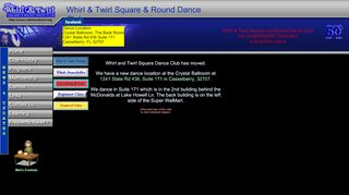 "Web site for ""Whirl & Twirl Square & Round Dance Club"""