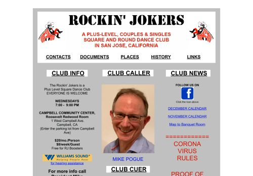 "Web site for ""Rockin' Jokers Square Dance Club"""