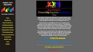 "Web site for ""Finest City Squares"""