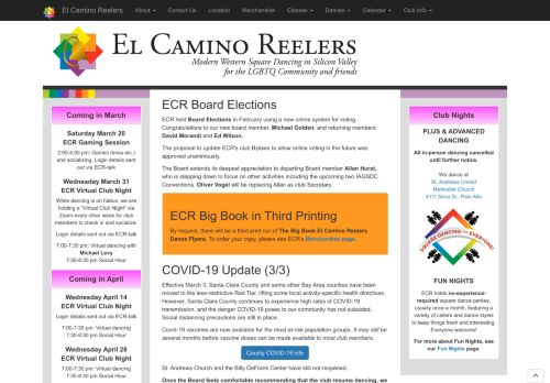 "Web site for ""El Camino Reelers"""