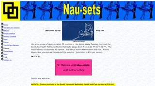 "Web site for ""Nau-sets Square Dance Club"""