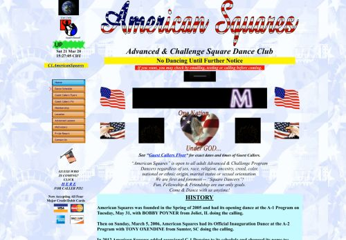 "Web site for ""American Squares"""