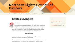 "Web site for ""Santa Swingers Square Dancers"""