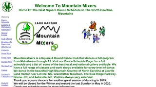 "Web site for ""Mountain Mixers Square & Round Dance Club"""