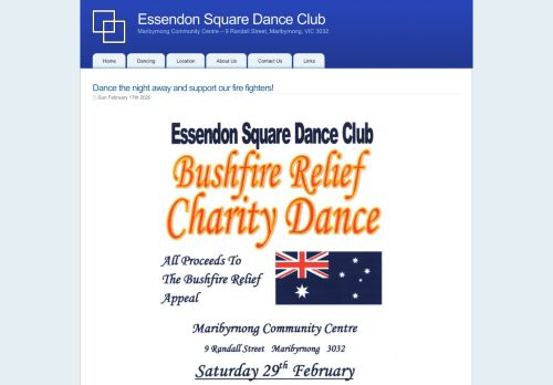 "Web site for ""Essendon Square Dance Club"""