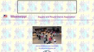 "Web site for ""Mississippi Square and Round Dance Association"""
