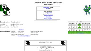 "Web site for ""Belles & Beaux Square Dance Club"""