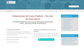 "Web site for ""Crazy Flutters Square Dance Club"""