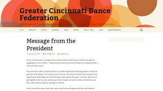 "Web site for ""Advance To Go - NO LONGER DANCING"""