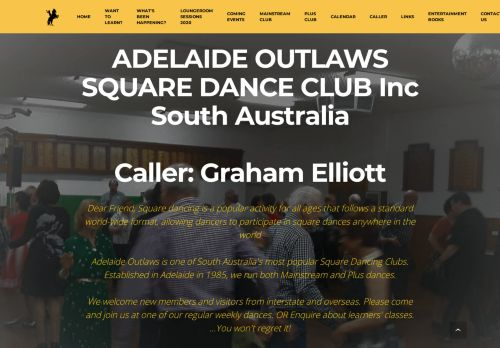 "Web site for ""Adelaide Outlaws"""
