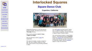 "Web site for ""Interlocked Squares"""