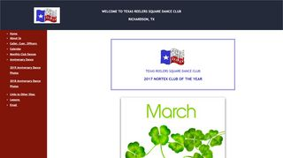 "Web site for ""Texas Reelers Square Dance Club"""