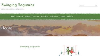 "Web site for ""Swinging Saguaros"""
