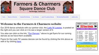 "Web site for ""Farmers & Charmers"""