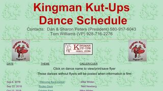 "Web site for ""Kingman Kut-ups"""