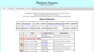 "Web site for ""Phantom Squares"""