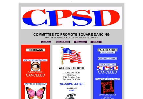 "Web site for ""CPSD (The Committee To Promote Square Dancing)"""