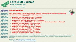 "Web site for ""Fern Bluff Squares"""