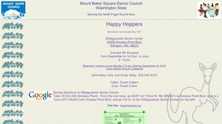 "Web site for ""Happy Hoppers"""