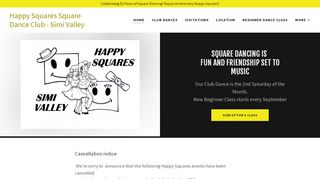 "Web site for ""Simi Valley Happy Squares"""