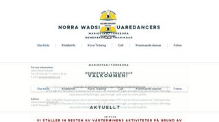 "Web site for ""Norra Wadsbo Square Dansers"""