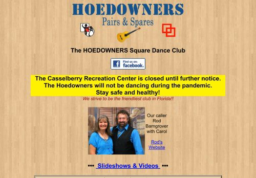 "Web site for ""Hoedowners Pairs & Spares Square and Round Dance Club"""