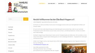 "Web site for ""Elbe Beach Hoppers"""