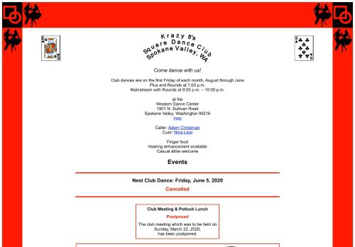 "Web site for ""Krazy 8's Square Dance Club"""